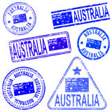 Australia Rubber Stamps Royalty Free Stock Photos