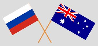 Australia and Russia. The Australian and Russian flags. Official colors. Correct proportion. Vector. Illustrationn royalty free illustration