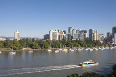 Australia's Brisbane city. See views of the city from the other side of the Brisbane River Royalty Free Stock Images