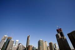 Australia's Brisbane city. Brisbane City building close-up Stock Images