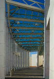 Australia's Parliament House. Shadows at the entrance to Australia's Parliament House - Canberra Royalty Free Stock Photos