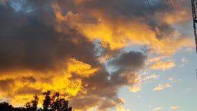 Australia sa di giallo tramonto di Adelaide Fotografia Stock