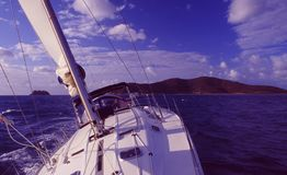 Australia: Sailing in the Great Barrier Reef royalty free stock photo