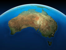 Australia seen from space. Royalty Free Stock Photo