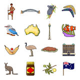 Australia set icons in cartoon style. Big collection of Australia vector symbol  Royalty Free Stock Image
