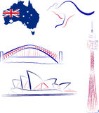 Australia sights and symbols Stock Photo