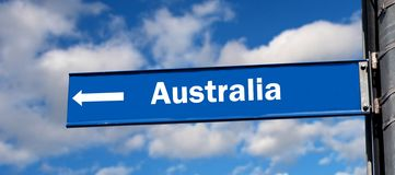 Australia sign Stock Photo