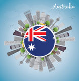 Australia Skyline with Gray Buildings and Blue Sky Royalty Free Stock Photography