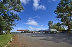 Australia, South Australia, Marla Roadhouse. Marla, SA, Australia - November 15, 2017: Marla roadhouse with petrol station, restaurant, crocery and motel on royalty free stock images