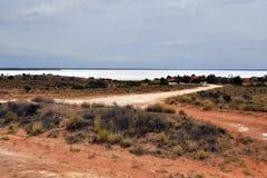 Australia, South Australia, salt lake. Australia, lake Hart a dry salt lake royalty free stock photography