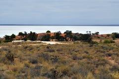 Australia, South Australia, salt lake. Australia, lake Hart a dry salt lake on Stuart highway royalty free stock photo