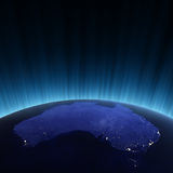 Australia from space Royalty Free Stock Image