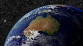 Australia from space Royalty Free Stock Photography