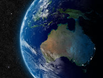 Australia from space Stock Photo
