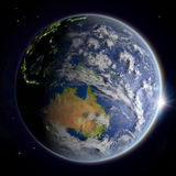 Australia from space at twilight Stock Photo