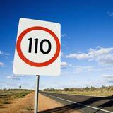 Australia speed limit sign Stock Image