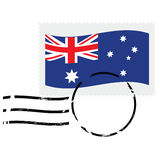 Australia stamp royalty free illustration