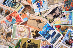 Australia stamp collection Royalty Free Stock Photography