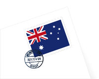 Australia stamp illustration. Australia stamp Letter illustration vector Royalty Free Stock Photo