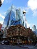 Australia, Sydney, 2014 August, the streets of the metropolis. View of buildings Royalty Free Stock Photos