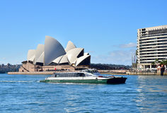 Australia.Sydney - August 2015.View of the Harbour and Opera Hou Stock Photo