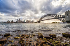 Australia sydney CBD panoramic view. Landscape view of Sydney CBD from Kirribilli area in North Sydne Stock Photos