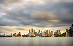 Australia sydney CBD panoramic view. Landscape view of Sydney CBD from Kirribilli area in North Sydne Stock Image