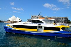 Australia sydney ferry. There is a ferry in front of opera house in australia Royalty Free Stock Photos