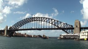 Australia, Sydney, the harbor bridge, stock video footage