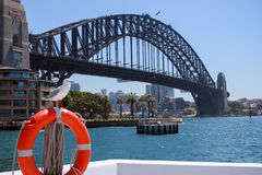 Australia Sydney Harbour Bridge. Sea Stock Photos