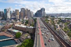 Australia, Sydney, Skyline, Circular Quay, New South Wales. Skyline of Sydney with Circular Quay, Australia, New South Wales Stock Images