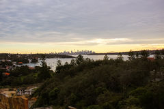 Australia Sydney Skyline Watson Bay. View Royalty Free Stock Photos