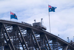 Australia, Sydney. Australia, unidentified people by bridge climbing on top of Sydney Harbour Bridge Stock Image
