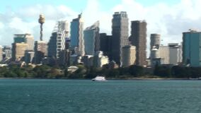 Australia, Sydney, vista del horizonte metrajes