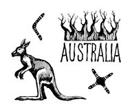 Australia symbols and signs Stock Images