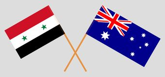 Australia and Syria. The Australian and Syrian flags. Official colors. Correct proportion. Vector. Illustrationn vector illustration