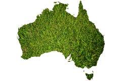 australia tła pola trawy mapa Zdjęcie Royalty Free