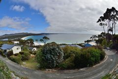 Binalong Bay. Australia Tasmania Binalong Bay seaside village Stock Images