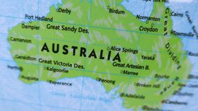 Australia. Terrestrial Globe 4K stock footage