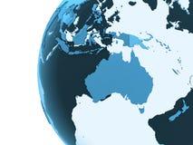 Australia on translucent Earth Royalty Free Stock Photos