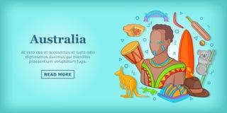 Australia travel banner concept, cartoon style Royalty Free Stock Photos
