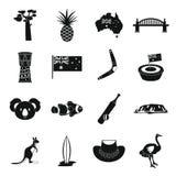 Australia Travel Icons Set, Simple Style Royalty Free Stock Images