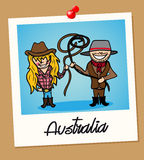 Australia travel polaroid people Stock Images