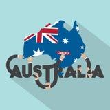 Australia Typography Design Royalty Free Stock Photography