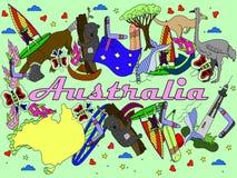 Australia vector illustration Royalty Free Stock Images