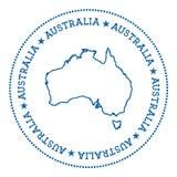 Australia vector map sticker. Stock Photos