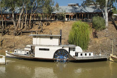 Australia, VIC, Echuca. Australia, nostalgic paddle steamer on murray river in Echuca village Royalty Free Stock Photography
