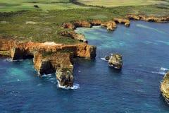Australia, VIC, Wielka droga ocean, widok z lotu ptaka obraz royalty free