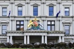 Australia, Victoria, Melbourne, edificio multicultural victoriano fotos de archivo