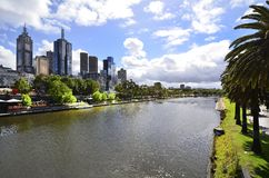 Australia, Victoria, Melbourne, Riverland site. Australia, Melbourne, modern buildings along Yarra river at Riverside Park in the capital of Victoria royalty free stock images